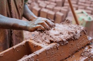 making bricks like the Hebrew slaves did in Egypt