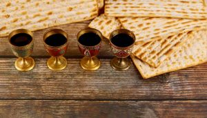 four cups of wine found on the Passover table